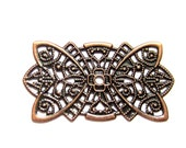 10 Iron Filigree pendants antique copper filigree flower wraps jewelry supplies R0156-R