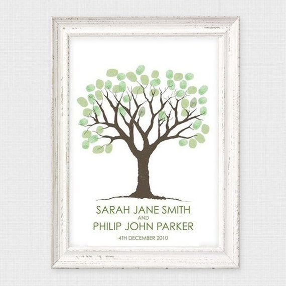 printable guest book wedding fingerprint tree - thumbprint tree, illustration, drawing, sketch style, drawn, poster, sign in, retirement