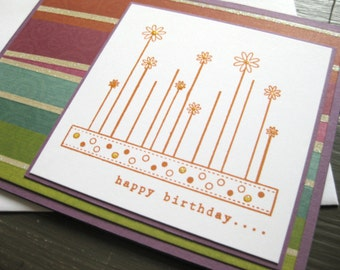 Funky Cake Birthday Card #1