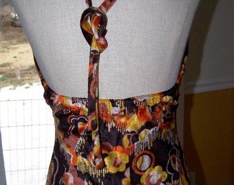 Vintage Lady's Small/Medium Tall Stretch Pan Velvet Dress
