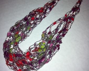 Jaxy Jewels Sassy Winter Holiday Crocheted Necklace