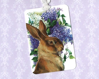 Tags, Lilac Tags, Rabbit, Party Favors, Summer Fun, Gift Tags