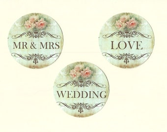 Wedding Stickers - Vintage Style - Floral Stickers