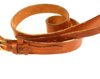 Vintage unisex brown western leather belt by Tex Tan