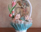 EASTER Nut Cup- candy cup- table decor -Lamb- turquoise