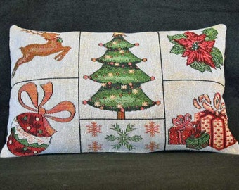 Christmas Pillow Tapestry With Christmas Images Christmas Decor