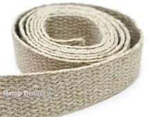 1 Inch Hemp Webbing,    4 Feet, Natural, Hemp Belt Webbing -W2