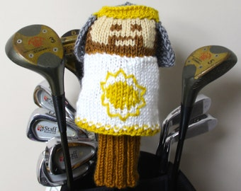 King Arthur, Monty Python, Golf Headcover, Golf Club Cover, Golf Head Cover, Knit, Gifts for Men, Golf Gift, Holy Grail