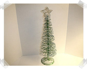 Christmas Wire Tree/Large/ Upcycled/Holiday Decor*