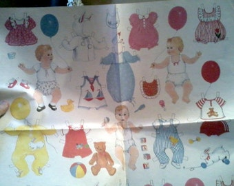 1 Sheet Uncut Paper  Doll Wrapping Paper-Gordan Frasier  England