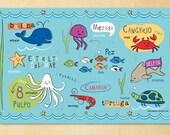 Kids Spanish Ocean Friends Placemat