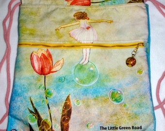 Little Green Road to Fairyland, 1922, Children's Book Art Backpack/tote Custom Print made to order