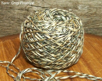 Gray Pinstripe Yarn,  Silver, Sage, Cream, Grey,  Black Wrap, Super Soft & Laceweight Yarn Bin 27