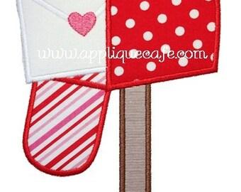 565 Valentine Mailbox Machine Embroidery Applique Design