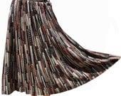 1970s Skirt Novelty Print - Cityscape - M