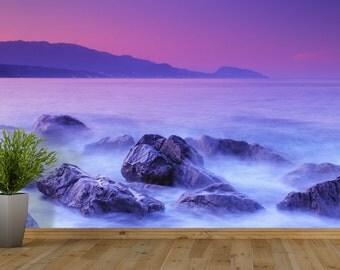 Misty Rocks Self Adhesive Wallpaper