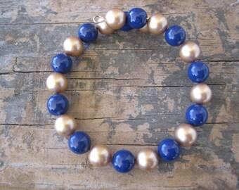 Blue and Gold Team Spirit Bracelet