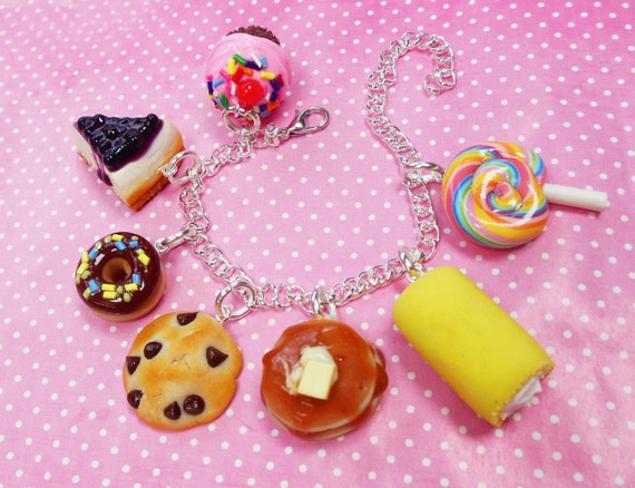Polymer Clay Dessert Sweet Tooth Charm By Scrumptiousdoodle