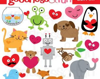 Buy 2, Get 1 FREE - Be My Valentine Clipart - Digital Valentine Clipart - Instant Download