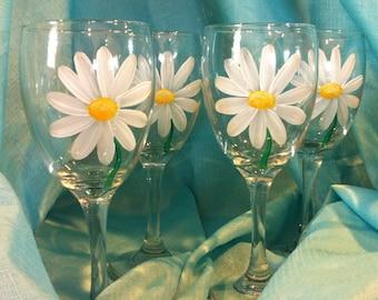 DAISY WINE GLASSES Set / 4