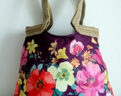 SALE -lovely small floral handbag