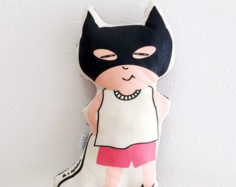 Catgirl Silkscreen Plush Doll