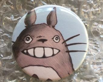 My Neighbor Totoro Inspired Fan Art Pop Art 1 1/2  inch pin button Anime Studio Ghibli