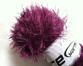 LG 100 gram Grape Eyelash Yarn Ice Fun Fur 164 Yards 22791