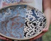 large serving bowl unique pottery