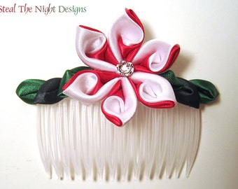 Candy Cane Swirl Hair Ornament