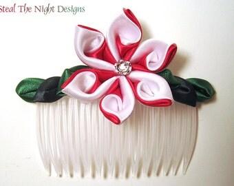 Candy Cane Swirl Hair Ornament