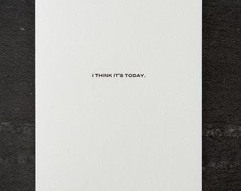 anniversary. letterpress card. #401