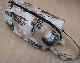 Gothic Spinal Cord Spine Anatomy Bones Cosmetic Bag Makeup Bag LARGE