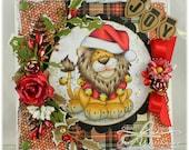 Joy - OOAK Handmade Greeting Card - Whimsy Stamps