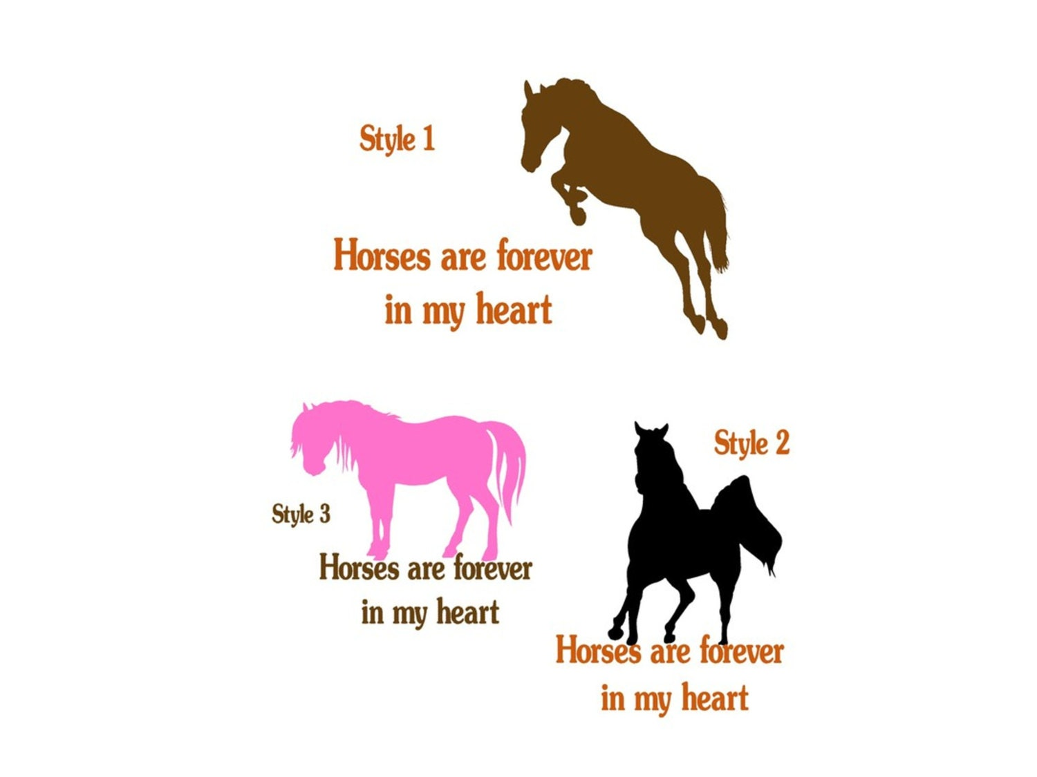 Horse Quote Wall Decal Horse Wall Words Sticker Girls Room