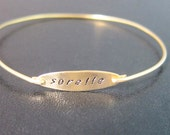 Sorelle, Bracelet Bangle, Jewelry, Braccialetto, Sorella, Bracciale, Personalizzato, Personalizzati, Braccialetti, Bracciali, Frosted Willow