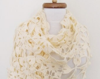 Cream Mohair Wedding Bridal Shawl-Ready for shipping
