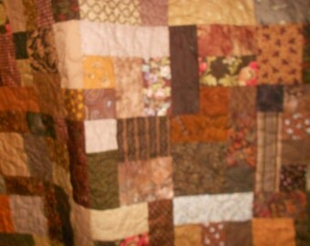 King Size Quilt Brown 4