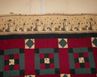 Twin size bed Quilt Throw Quilt   Winter decor Quilt 100