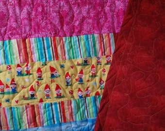 Gnome Baby and Toddler Quilt