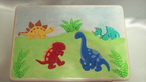 Playful Dinosaurs Step Stool