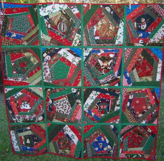 On Sale---Christmas Crazy Quilt was 200.00 now 175.00