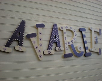 Nursery Letters - Kids Name Letters - Name Wall Letters - Whimsical Font