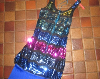 20s 1920's  flapper dress Halloween Costume GATSBY look fun sequin dress womens size 4 accessories included