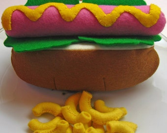 Felt Play Food - Hot Dog