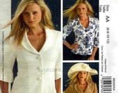 2007 Jacket Pattern Lined Two or Three Button Front Elbow Length Sleeve Optional Ruffle McCalls M5329 Bust 30.5 to 34 UNCUT