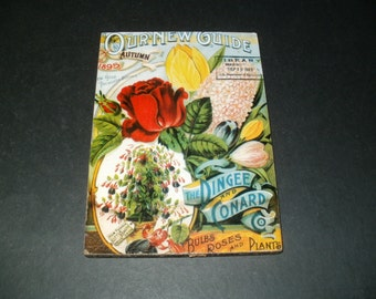 Vintage Look Wall Hanging Our New Guide Autumn 1895, decorative, display, collectibles, supplies, cool kitchen art,craft