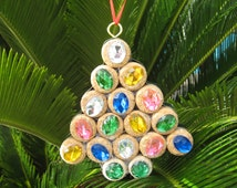 Wine Cork Christmas Tree Ornament