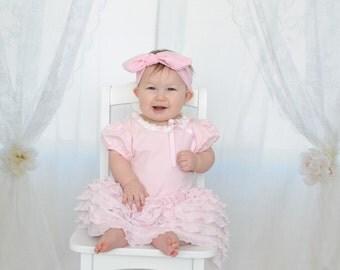 Pink Baby Knot Headband, Knot Headband, Baby Knit Headband, Baby Headwrap, Girls Pink Knot Headband, Pink Knit Headband, Photo Prop