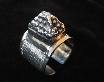 Sterling Silver Architectural Ring Jewish Museum Replica